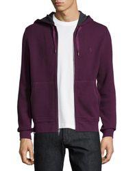 Original Penguin | Purple Waffle-knit Hoodie for Men | Lyst