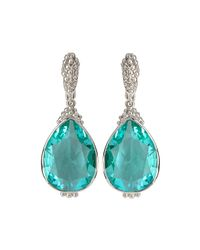 Judith Ripka   Green Bermuda Pear-cut Spinel Drop Earrings   Lyst