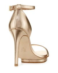 Pelle Moda - Natural Taft Leather Platform Sandal - Lyst
