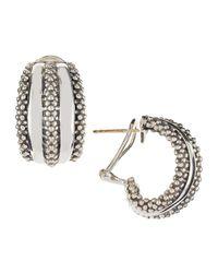 Lagos   Metallic Classic Double-row Hoop Earrings   Lyst