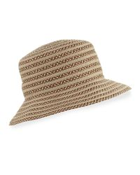 Eric Javits | Natural Braid Dame Bucket Hat | Lyst
