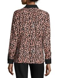 Karl Lagerfeld - Black Printed Button-front Shirt - Lyst
