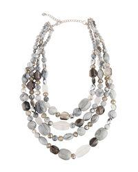 Lydell NYC - Metallic Multi-row Glass Beaded Necklace - Lyst