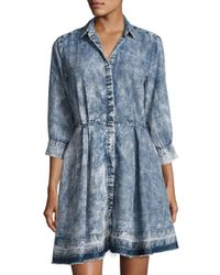 Philosophy   Blue 3/4-sleeve Chambray Dress   Lyst