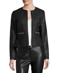 French Connection | Black Medina Stitch Faux-leather Jacket | Lyst