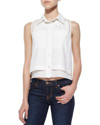 Parker | White Norway Sleeveless Combo Blouse | Lyst
