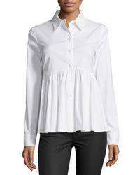 Michael Kors - White Long-sleeve Button-front Shirt - Lyst