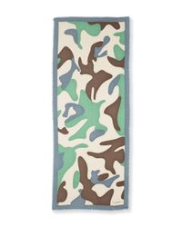 Burberry | Green Large Camo Graphic Cashmere Scarf | Lyst