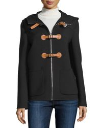 Michael Kors | Black Zip-front Hooded Jacket | Lyst