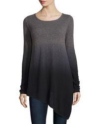 Neiman Marcus   Purple Ombre Cashmere Asymmetric Sweater   Lyst