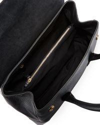 Roberto Cavalli - Black Stampa Dollaro Leather Shoulder Bag - Lyst