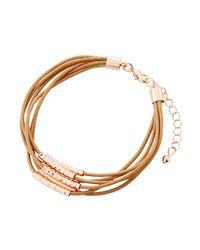Fragments   Brown Multi-row Cord Bracelet   Lyst