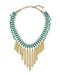 Nakamol | Blue Beaded Statement Fringed Choker Necklace | Lyst