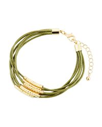Fragments - Green Multi-row Cord Bracelet - Lyst