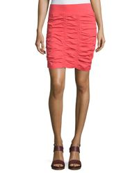 XCVI | Pink Heliconia Ruched Pencil Skirt | Lyst