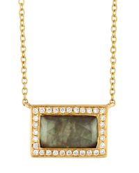 Ippolita | Metallic Rock Candy® Small Shell Baguette Pendant Necklace W/ Diamonds | Lyst