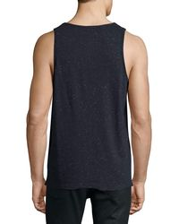 ATM - Blue Speckled Jersey Tank Top for Men - Lyst