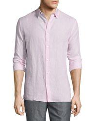 Vince - Pink Melrose Linen Sport Shirt for Men - Lyst