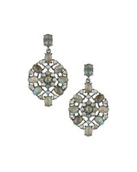 Bavna | Metallic Geometric Labradorite Drop Earrings | Lyst