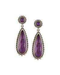 Lagos | Purple Maya Silver Charoite Teardrop Earrings | Lyst