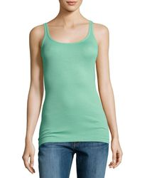 VINCE | Green Favorite Ribbed Tank | Lyst