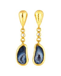 Gurhan | Multicolor Pandora's Box 24k One-of-a-kind Geode Drop Earrings | Lyst