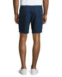 "Original Penguin - Blue 8"" Flag Ditsy-print Shorts for Men - Lyst"