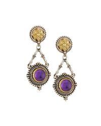Konstantino | Purple Erato Floral Amethyst Doublet Drop Earrings | Lyst