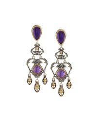 Konstantino   Purple Erato Amethyst Doublet Chandelier Earrings   Lyst