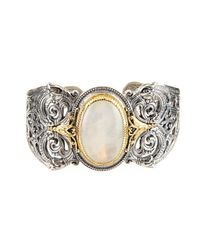 Konstantino | White Erato Filigree Cuff Bracelet W/ Labradorite Doublet | Lyst