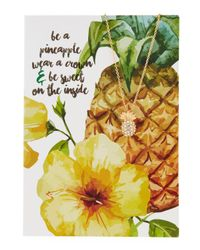 Lydell NYC | Multicolor Pineapple Necklace With Card | Lyst