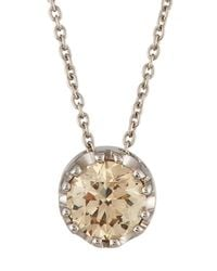 Roberto Coin - 18k White Gold Brown Diamond Pendant Necklace - Lyst