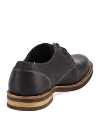 Original Penguin - Black Wade Leather Lace-up Oxford for Men - Lyst
