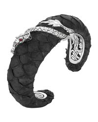 John Hardy - Red Naga Exotic Leather Bold Cuff Bracelet - Lyst