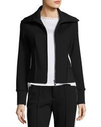 Moncler - Black Stretch Jersey Zip-front Cardigan - Lyst