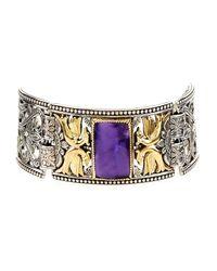 Konstantino - Purple Erato Statement Link Bracelet W/ Amethyst Doublet - Lyst