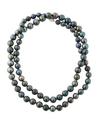 Belpearl - Multicolor 14k Oblong Tahitian Pearl Necklace - Lyst