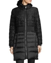 Zac Zac Posen - Black Juniper Quilted Lace Down Coat - Lyst