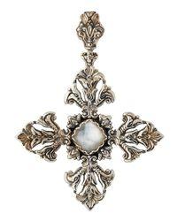 Konstantino - White Aura Maltese Cross Crystal Doublet Pendant Enhancer - Lyst