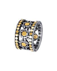 John Hardy - Metallic Dot Two-tone Band Ring Size 7 - Lyst