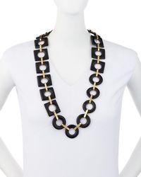Ashley Pittman - Brown Mbele Geometric Dark Horn Link Necklace - Lyst
