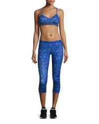 Alo Yoga - Blue Airbrush Capri Leggings - Lyst