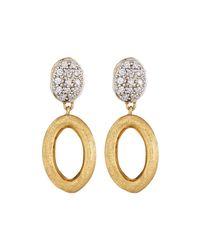 Marco Bicego | Metallic Siviglia 18k Link Diamond Drop Earrings | Lyst
