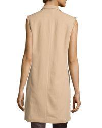 Brunello Cucinelli - Natural Sleeveless Trenchcoat Jacket - Lyst