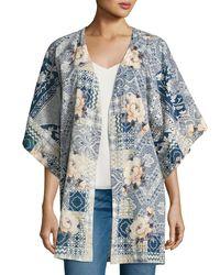Johnny Was | Blue Laite Floral-print Cotton Kimono | Lyst