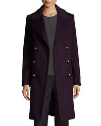 Elie Tahari Multicolor Shayla Double-breasted Wool-blend Coat