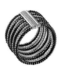 John Hardy - Black Multi-Row Bracelet - Lyst
