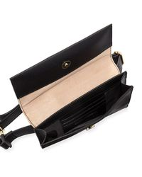 Neiman Marcus - Black Pearlescent Faux-leather Belt Bag - Lyst