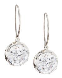 Fantasia by Deserio - Multicolor Solitaire Cubic Zirconia Wire Dangle & Drop Earrings - Lyst