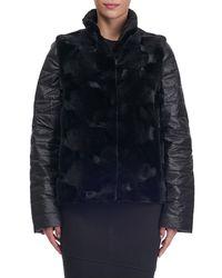 Gorski - Black Reversible Fur Jacket - Lyst